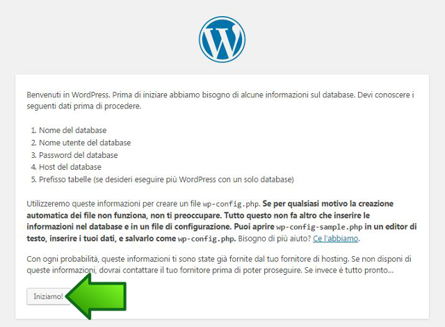 Installazione guidata WordPress fase1